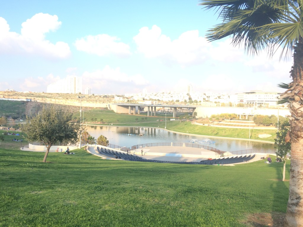 The gorgeous park we went to last Saturday (Shabbos)