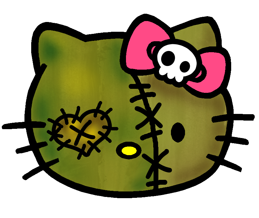 Faith chose this pic to include in the post, in her own words, 'Awww Hello Kitty Zombie is soooo cute!'
