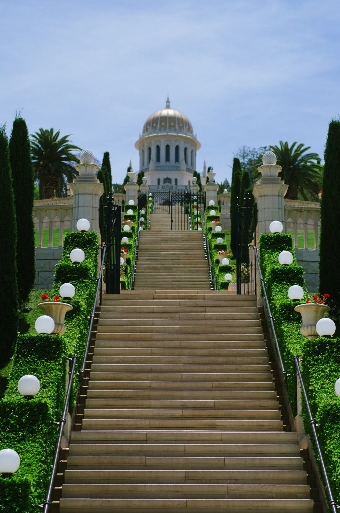 Photo of the Bahá'í Gardens in Haifa by Paul